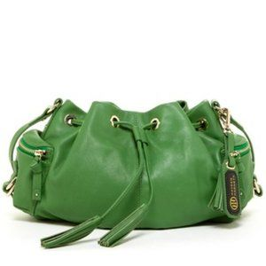 HAYDEN HARNETT GREEN LEATHER CROSS BODY BAG NWT